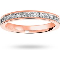 18 Carat Rose Gold 0.75 Carat Princess Cut Half Eternity Ring