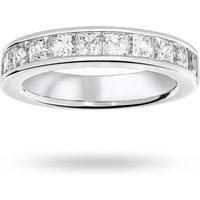18 Carat White Gold 2.00 Carat Princess Cut Half Eternity Ring