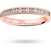 18 Carat Rose Gold 0.25 Carat Dot Dash Half Eternity Ring