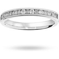 18 Carat White Gold 0.25 Carat Dot Dash Half Eternity Ring