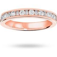 18 Carat Rose Gold 0.50 Carat Dot Dash Half Eternity Ring