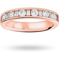 18 Carat Rose Gold 0.75 Carat Dot Dash Half Eternity Ring