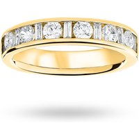 18 Carat Yellow Gold 1.00 Carat Dot Dash Half Eternity Ring