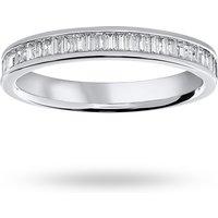 18 Carat White Gold 0.33 Carat Baguette Cut Half Eternity Ring