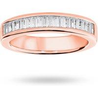 18 Carat Rose Gold 0.75 Carat Baguette Cut Half Eternity Ring