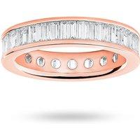 18 Carat Rose Gold 2.00 Carat Baguette Cut Full Eternity Ring