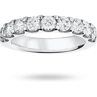 18 Carat White Gold 1.45 Carat Brilliant Cut Half Eternity