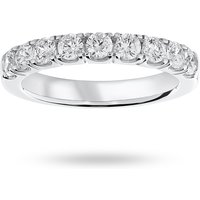9 Carat White Gold 0.75 Carat Brilliant Cut Half Eternity