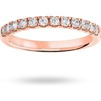 18 Carat Rose Gold 0.33 Carat Brilliant Cut Under Bezel Half Eternity Ring