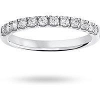 18 Carat White Gold 0.33 Carat Brilliant Cut Under Bezel Half Eternity Ring