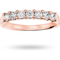 18 Carat Rose Gold 0.50 Carat Brilliant Cut Under Bezel Half Eternity Ring
