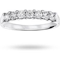 18 Carat White Gold 0.50 Carat Brilliant Cut Under Bezel Half Eternity Ring