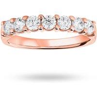 18 Carat Rose Gold 0.75 Carat Brilliant Cut Under Bezel Half Eternity Ring
