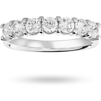 18 Carat White Gold 1.00 Carat Brilliant Cut Under Bezel Half Eternity Ring