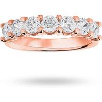18 Carat Rose Gold 1.30 Carat Brilliant Cut Under Bezel Half Eternity Ring