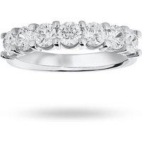 18 Carat White Gold 1.30 Carat Brilliant Cut Under Bezel Half Eternity Ring