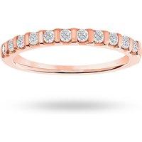 18 Carat Rose Gold 0.30 Carat Brilliant Cut Bar Half Eternity Ring