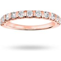 18 Carat Rose Gold 0.50 Carat Brilliant Cut Bar Half Eternity Ring