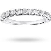 18 Carat White Gold 0.50 Carat Brilliant Cut Bar Half Eternity Ring