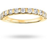 9 Carat Yellow Gold 0.50 Carat Brilliant Cut Bar Half Eternity Ring