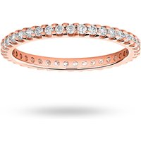 18 Carat Rose Gold 0.50 Carat Brilliant Cut Claw Set Full Eternity Ring