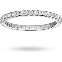 18 Carat White Gold 0.50 Carat Brilliant Cut Claw Set Full Eternity Ring