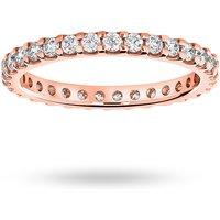 18 Carat Rose Gold 0.75 Carat Brilliant Cut Claw Set Full Eternity Ring