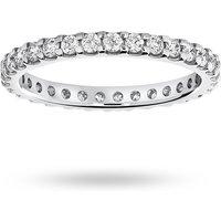 18 Carat White Gold 0.75 Carat Brilliant Cut Claw Set Full Eternity Ring