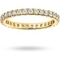 18 Carat Yellow Gold 0.75 Carat Brilliant Cut Claw Set Full Eternity Ring