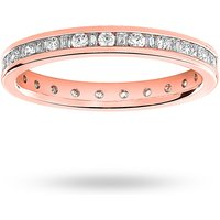 18 Carat Rose Gold 0.50 Carat Dot Dash Channel Set Full Eternity Ring