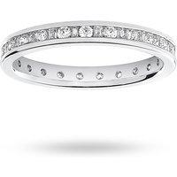 18 Carat White Gold 0.50 Carat Dot Dash Channel Set Full Eternity Ring