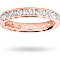 18 Carat Rose Gold 1.00 Carat Dot Dash Channel Set Full Eternity Ring