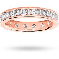 18 Carat Rose Gold 1.50 Carat Dot Dash Channel Set Full Eternity Ring