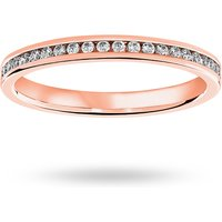 18 Carat Rose Gold 0.33 Carat Brilliant Cut Channel Set Full Eternity Ring