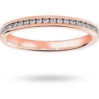 18 Carat Rose Gold 0.33 Carat Brilliant Cut Channel Set Full Eternity Ring