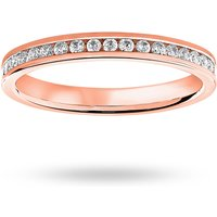 18 Carat Rose Gold 0.50 Carat Brilliant Cut Channel Set Full Eternity Ring