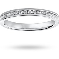 18 Carat White Gold 0.50 Carat Brilliant Cut Channel Set Full Eternity Ring