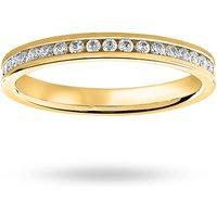 18 Carat Yellow Gold 0.50 Carat Brilliant Cut Channel Set Full Eternity Ring