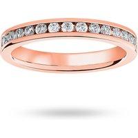 18 Carat Rose Gold 0.75 Carat Brilliant Cut Channel Set Full Eternity Ring