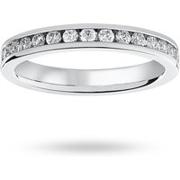 18 Carat White Gold 0.75 Carat Brilliant Cut Channel Set Full Eternity Ring