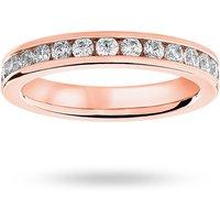18 Carat Rose Gold 1.00 Carat Brilliant Cut Channel Set Full Eternity Ring