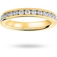 9 Carat Yellow Gold 1.00 Carat Brilliant Cut Channel Set Full Eternity Ring