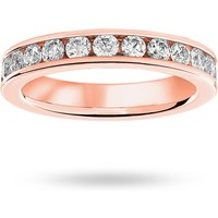 18 Carat Rose Gold 1.50 Carat Brilliant Cut Channel Set Full Eternity Ring