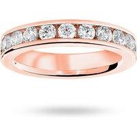 18 Carat Rose Gold 2.00 Carat Brilliant Cut Channel Set Full Eternity Ring