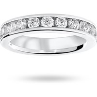 9 Carat White Gold 2.00 Carat Brilliant Cut Channel Set Full Eternity Ring