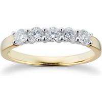 shop for 18ct Yellow Gold 0.50ct Brilliant Cut 88 Facet Diamond 5 ... at Shopo