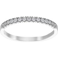9ct White Gold 0.20ct Diamond 15 Stone Stacking Ring - Ring Size N.