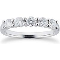 Platinum 0.75ct Brilliant Cut 88 Facet Diamond 5 Stone Cl ....