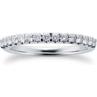 9ct White Gold Claw Set 0.33cttw Graduated Ring - Ring Size K
