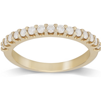 9ct Yellow Gold Claw Set 0.33cttw Graduated Ring - Ring Size M